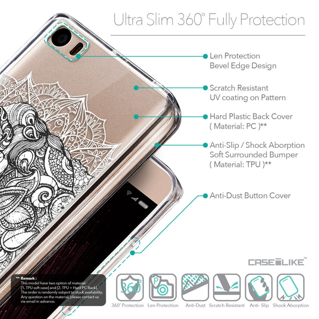 Details in English - CASEiLIKE Xiaomi Mi 5 back cover Mandala Art 2300