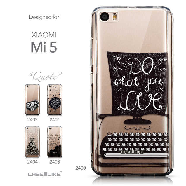 Collection - CASEiLIKE Xiaomi Mi 5 back cover Quote 2400