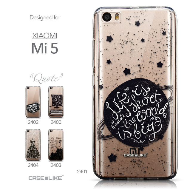 Collection - CASEiLIKE Xiaomi Mi 5 back cover Quote 2401