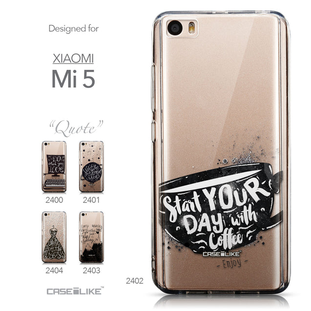 Collection - CASEiLIKE Xiaomi Mi 5 back cover Quote 2402