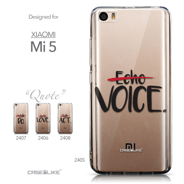 Collection - CASEiLIKE Xiaomi Mi 5 back cover Quote 2405
