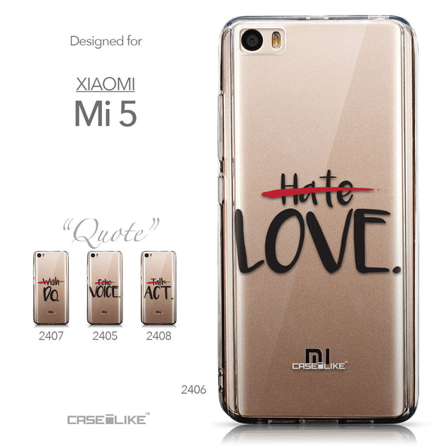 Collection - CASEiLIKE Xiaomi Mi 5 back cover Quote 2406