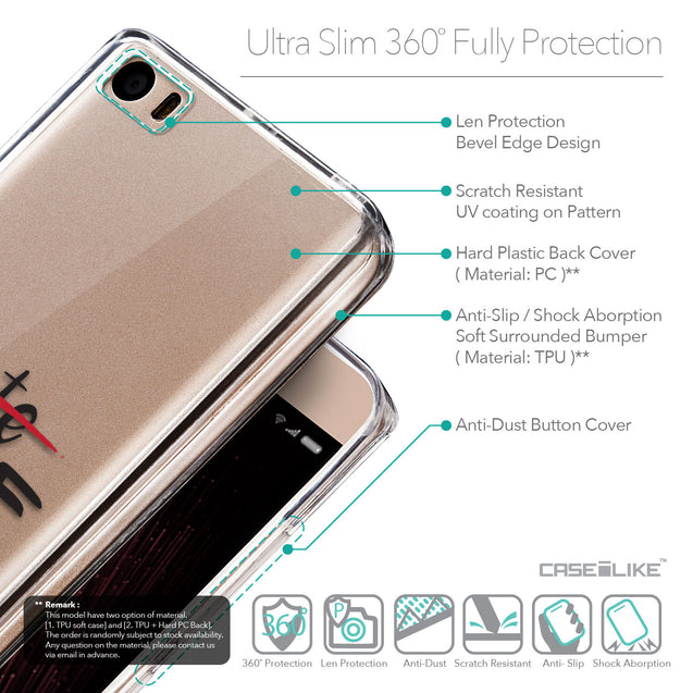 Details in English - CASEiLIKE Xiaomi Mi 5 back cover Quote 2406