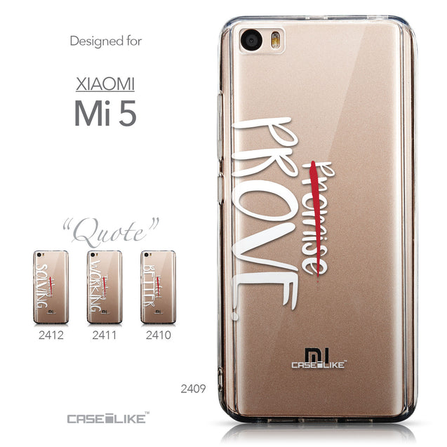 Collection - CASEiLIKE Xiaomi Mi 5 back cover Quote 2409