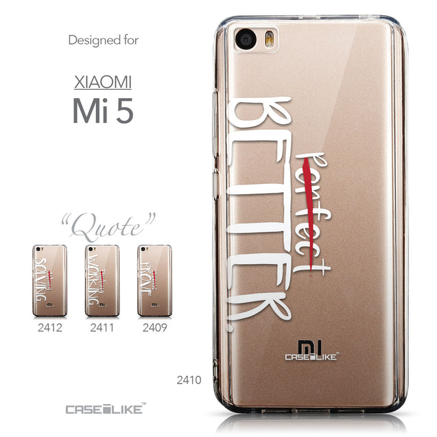 Collection - CASEiLIKE Xiaomi Mi 5 back cover Quote 2410