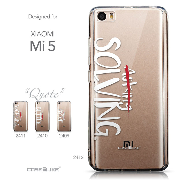 Collection - CASEiLIKE Xiaomi Mi 5 back cover Quote 2412