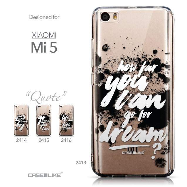 Collection - CASEiLIKE Xiaomi Mi 5 back cover Quote 2413