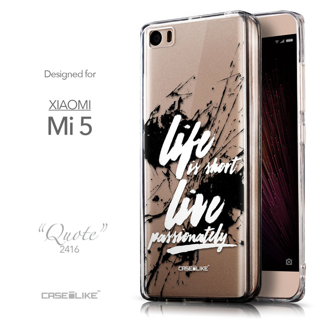 Front & Side View - CASEiLIKE Xiaomi Mi 5 back cover Quote 2416