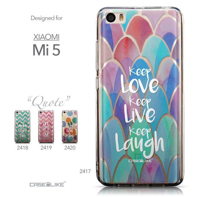 Collection - CASEiLIKE Xiaomi Mi 5 back cover Quote 2417