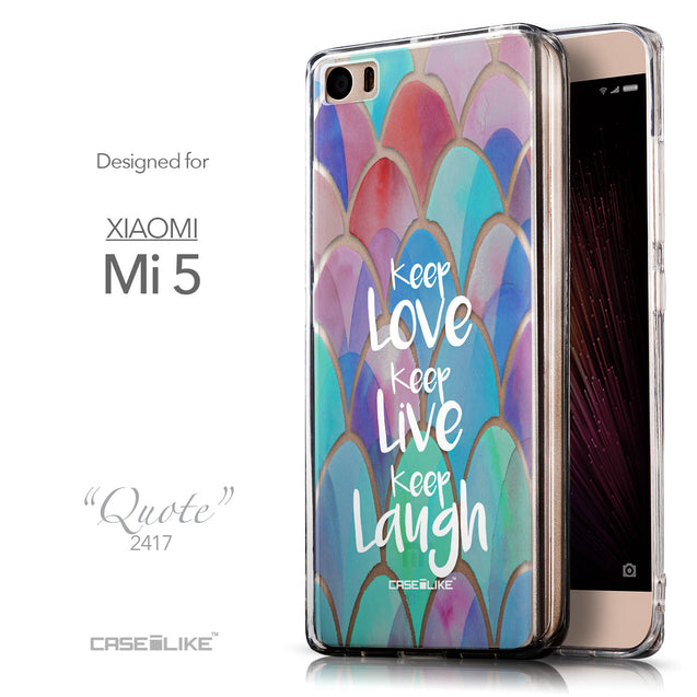 Front & Side View - CASEiLIKE Xiaomi Mi 5 back cover Quote 2417