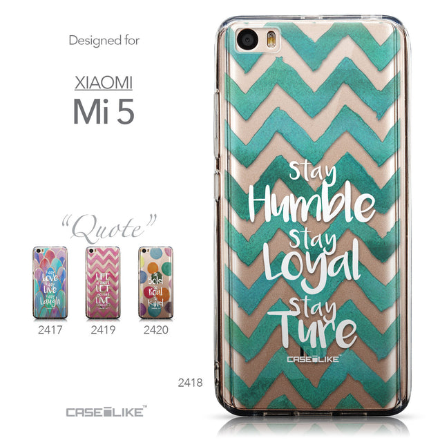 Collection - CASEiLIKE Xiaomi Mi 5 back cover Quote 2418