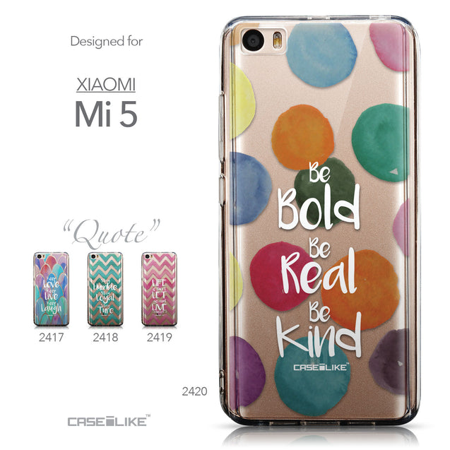 Collection - CASEiLIKE Xiaomi Mi 5 back cover Quote 2420
