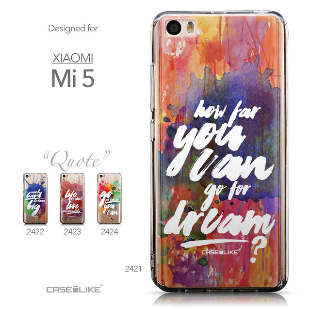 Collection - CASEiLIKE Xiaomi Mi 5 back cover Quote 2421