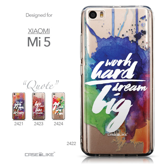 Collection - CASEiLIKE Xiaomi Mi 5 back cover Quote 2422