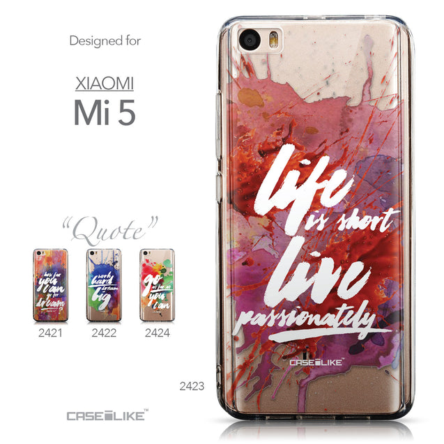 Collection - CASEiLIKE Xiaomi Mi 5 back cover Quote 2423