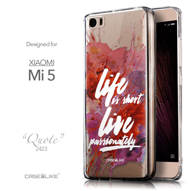 Front & Side View - CASEiLIKE Xiaomi Mi 5 back cover Quote 2423