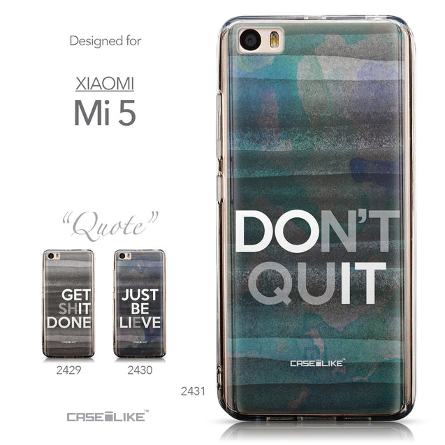 Collection - CASEiLIKE Xiaomi Mi 5 back cover Quote 2431