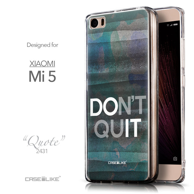 Front & Side View - CASEiLIKE Xiaomi Mi 5 back cover Quote 2431