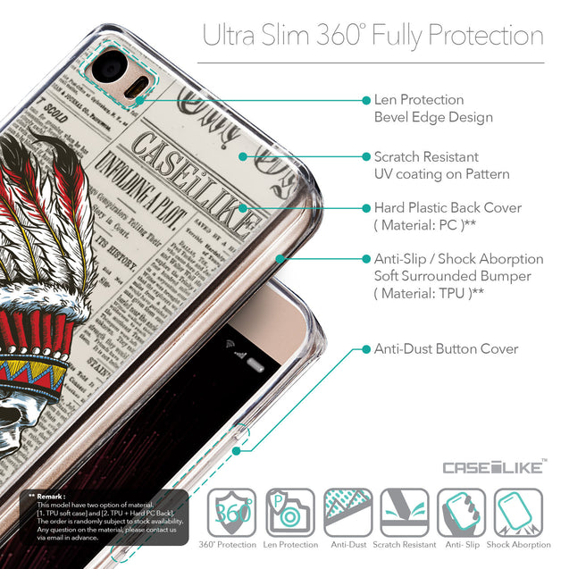 Details in English - CASEiLIKE Xiaomi Mi 5 back cover Art of Skull 2522