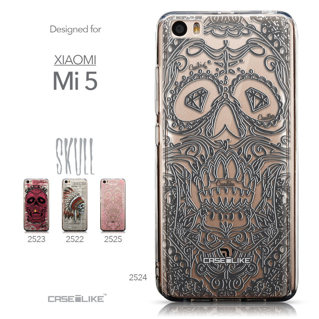 Collection - CASEiLIKE Xiaomi Mi 5 back cover Art of Skull 2524