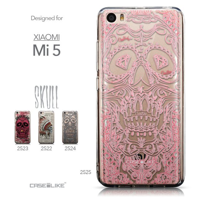 Collection - CASEiLIKE Xiaomi Mi 5 back cover Art of Skull 2525