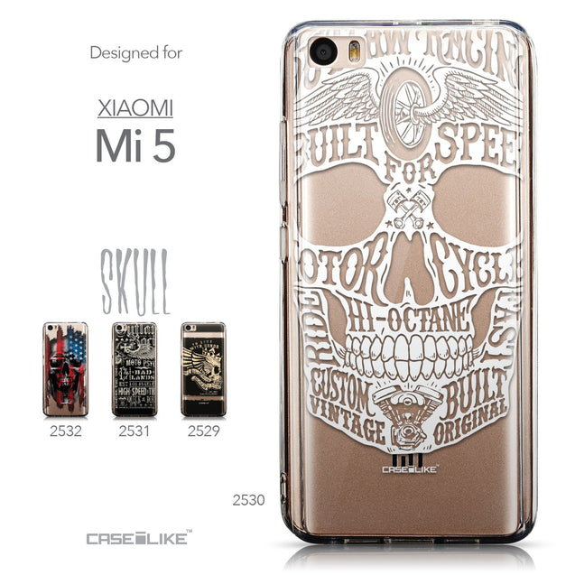 Collection - CASEiLIKE Xiaomi Mi 5 back cover Art of Skull 2530