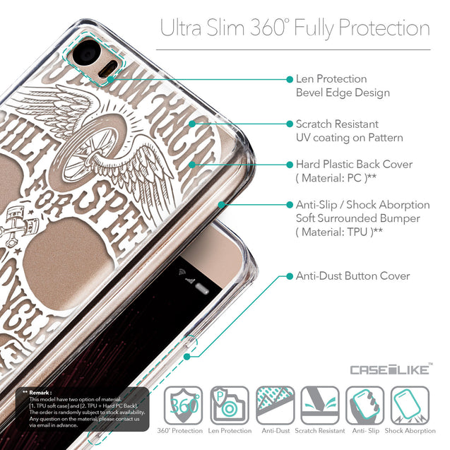 Details in English - CASEiLIKE Xiaomi Mi 5 back cover Art of Skull 2530