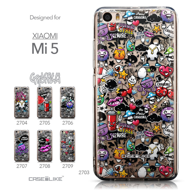 Collection - CASEiLIKE Xiaomi Mi 5 back cover Graffiti 2703
