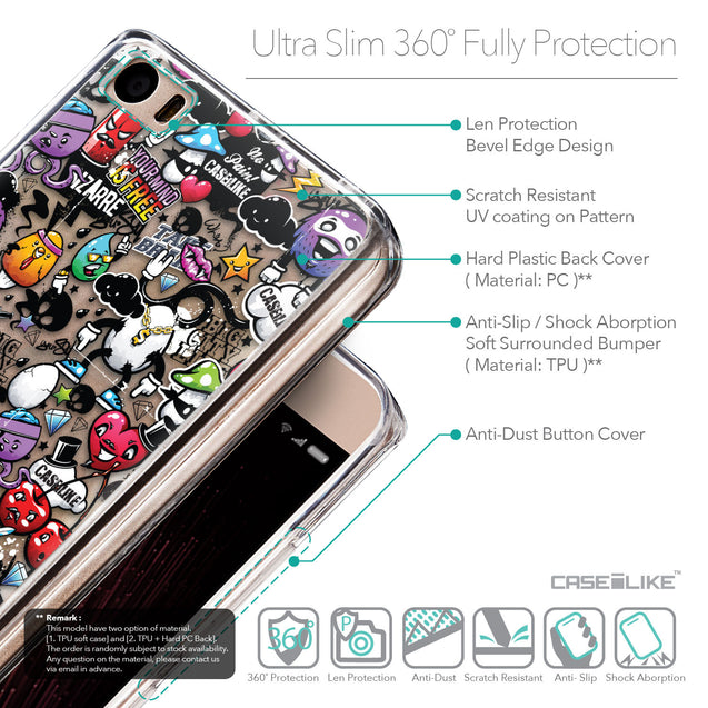 Details in English - CASEiLIKE Xiaomi Mi 5 back cover Graffiti 2703