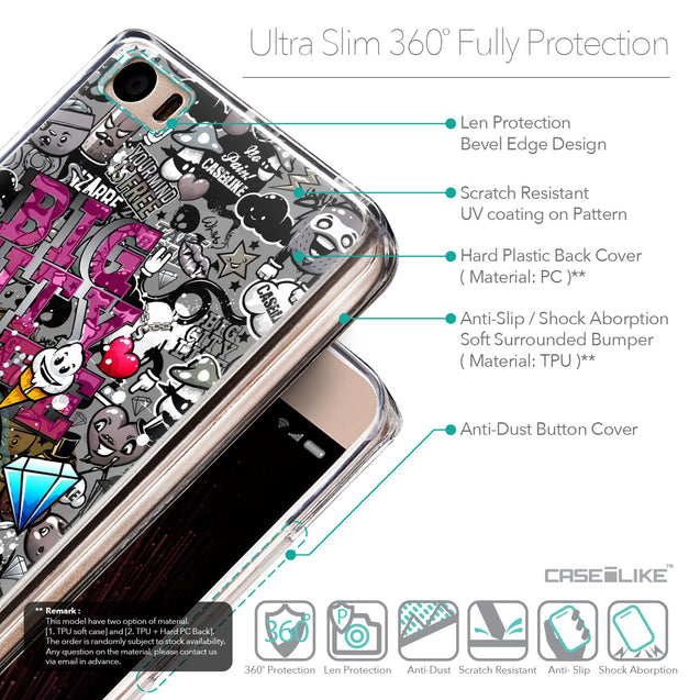 Details in English - CASEiLIKE Xiaomi Mi 5 back cover Graffiti 2704