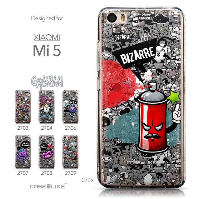 Collection - CASEiLIKE Xiaomi Mi 5 back cover Graffiti 2705