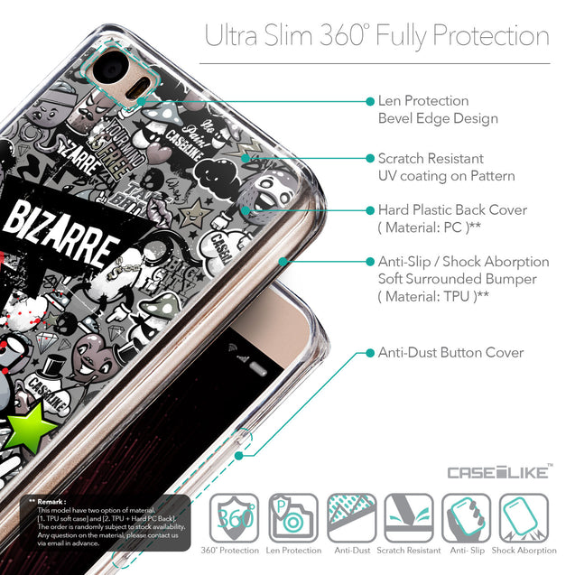 Details in English - CASEiLIKE Xiaomi Mi 5 back cover Graffiti 2705