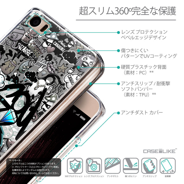 Details in Japanese - CASEiLIKE Xiaomi Mi 5 back cover Graffiti 2706