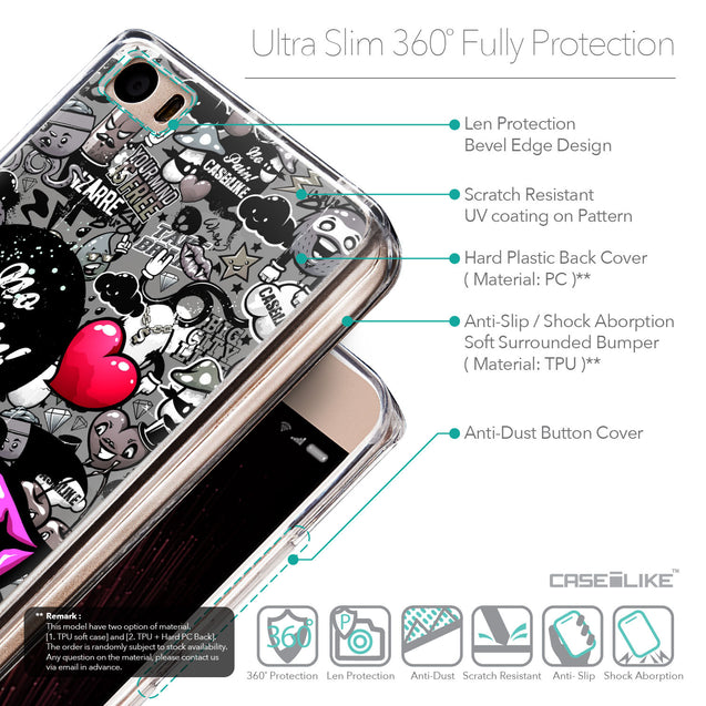 Details in English - CASEiLIKE Xiaomi Mi 5 back cover Graffiti 2708