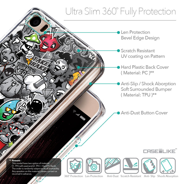 Details in English - CASEiLIKE Xiaomi Mi 5 back cover Graffiti 2709