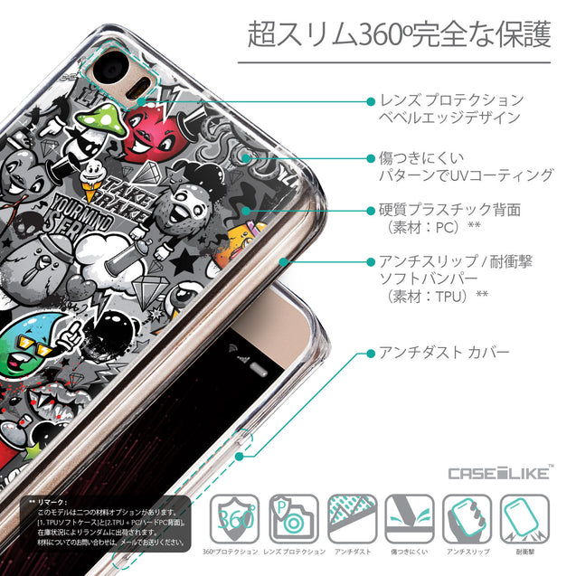 Details in Japanese - CASEiLIKE Xiaomi Mi 5 back cover Graffiti 2709