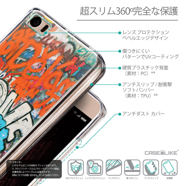 Details in Japanese - CASEiLIKE Xiaomi Mi 5 back cover Graffiti 2722