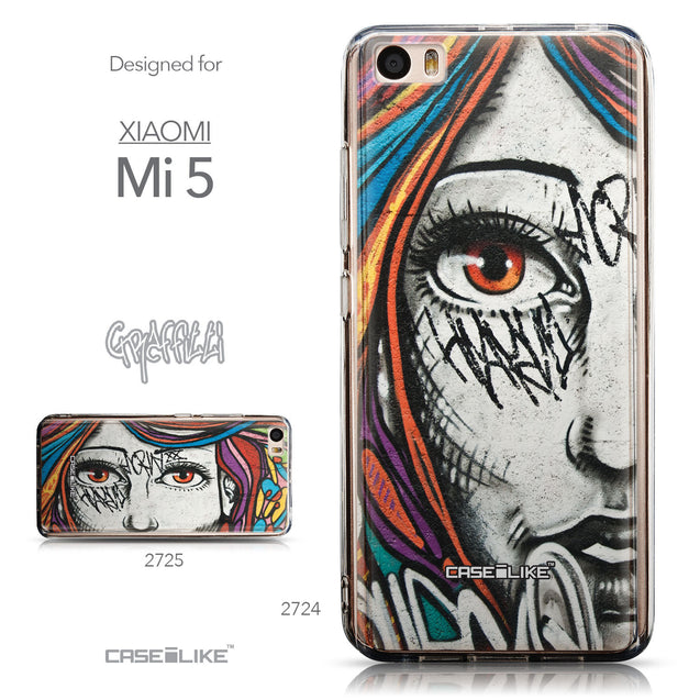 Collection - CASEiLIKE Xiaomi Mi 5 back cover Graffiti Girl 2724