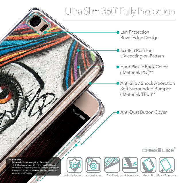 Details in English - CASEiLIKE Xiaomi Mi 5 back cover Graffiti Girl 2724