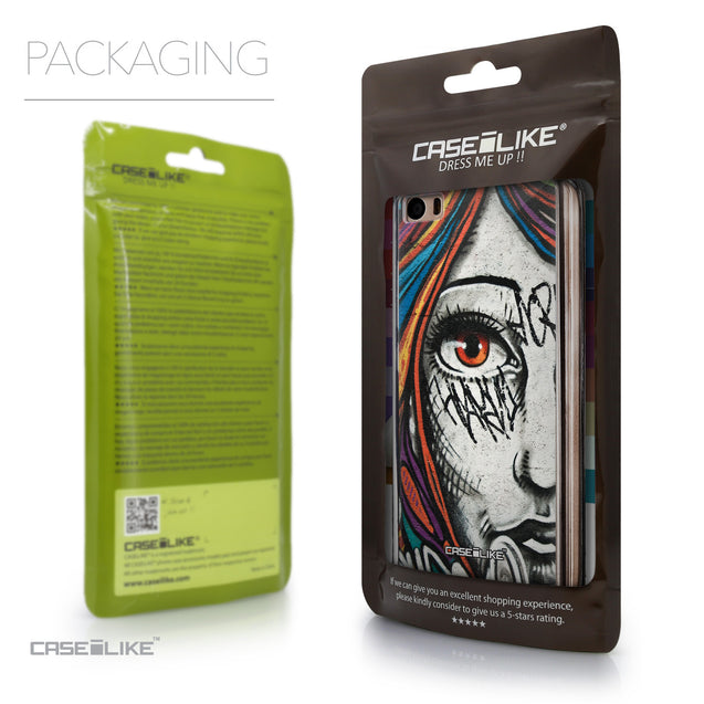 Packaging - CASEiLIKE Xiaomi Mi 5 back cover Graffiti Girl 2724