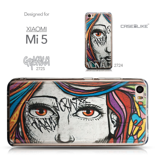 Collection - CASEiLIKE Xiaomi Mi 5 back cover Graffiti Girl 2725