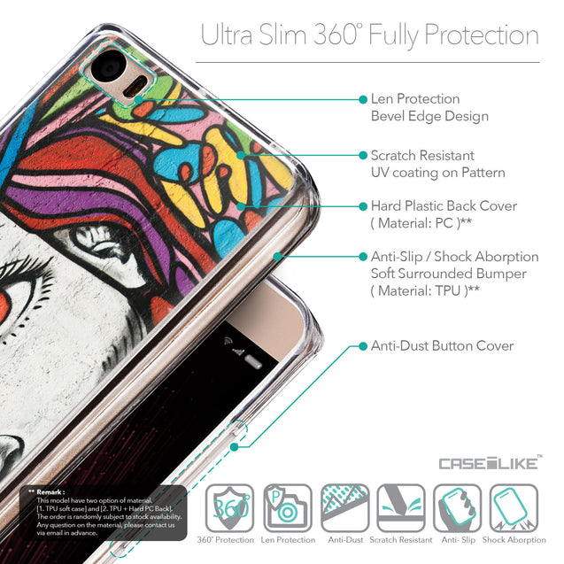 Details in English - CASEiLIKE Xiaomi Mi 5 back cover Graffiti Girl 2725