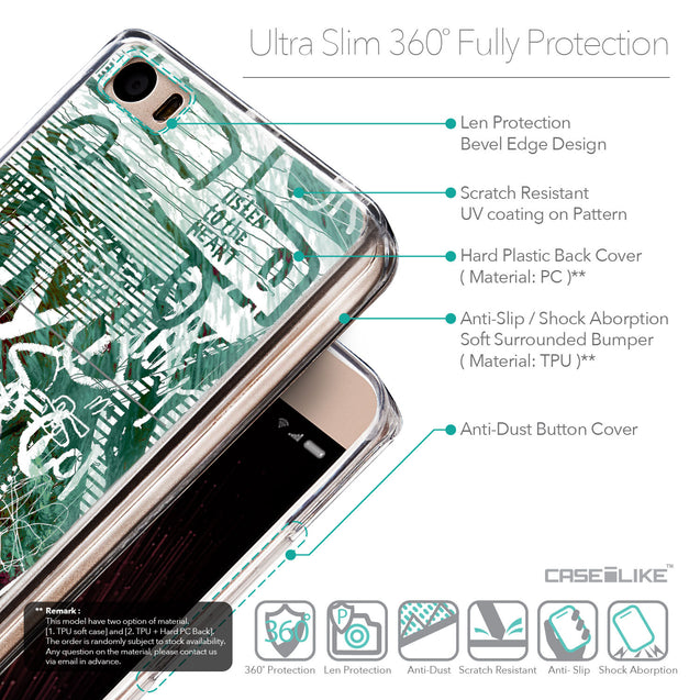 Details in English - CASEiLIKE Xiaomi Mi 5 back cover Graffiti 2728