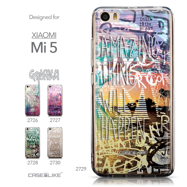 Collection - CASEiLIKE Xiaomi Mi 5 back cover Graffiti 2729