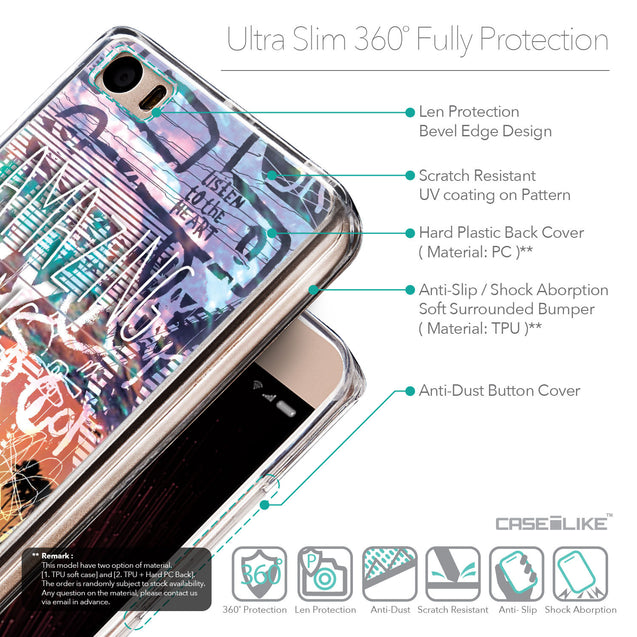 Details in English - CASEiLIKE Xiaomi Mi 5 back cover Graffiti 2729
