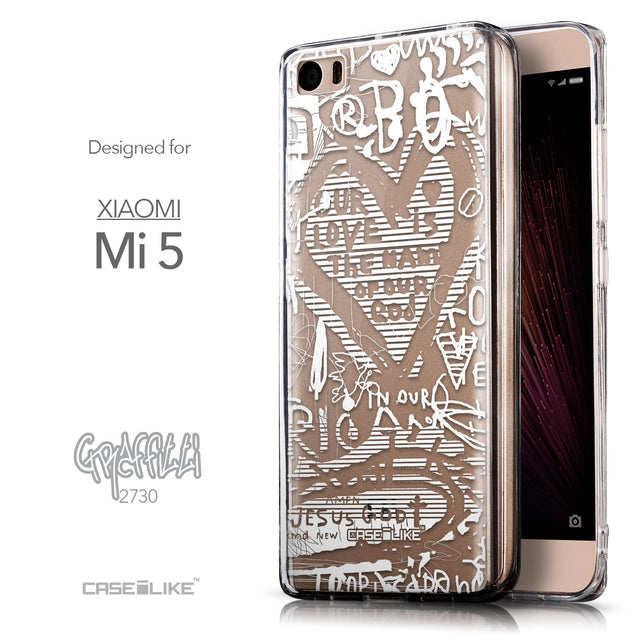 Front & Side View - CASEiLIKE Xiaomi Mi 5 back cover Graffiti 2730