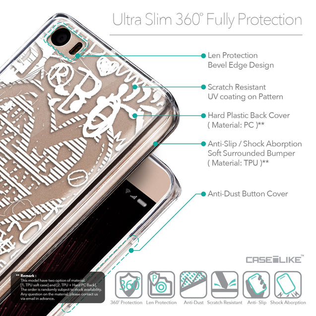 Details in English - CASEiLIKE Xiaomi Mi 5 back cover Graffiti 2730