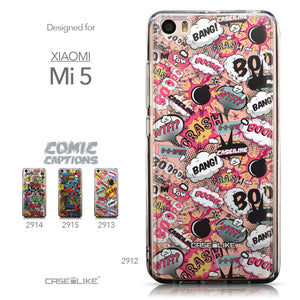 Collection - CASEiLIKE Xiaomi Mi 5 back cover Comic Captions Pink 2912
