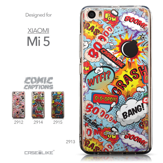 Collection - CASEiLIKE Xiaomi Mi 5 back cover Comic Captions Blue 2913