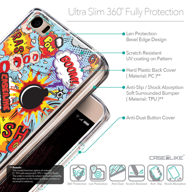 Details in English - CASEiLIKE Xiaomi Mi 5 back cover Comic Captions Blue 2913